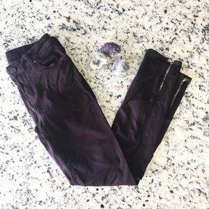 Paige verdugo ankle purple skinny jeans